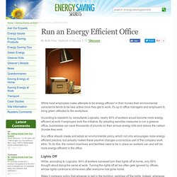 Run an Energy Efficient Office
