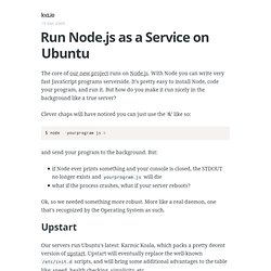 Run Node.js as a Service on Ubuntu