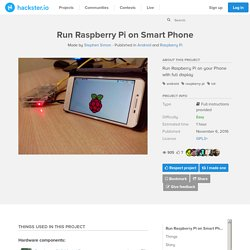Run Raspberry Pi on Smart Phone