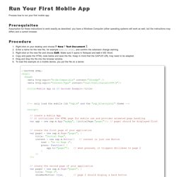 Run Your First Mobile App