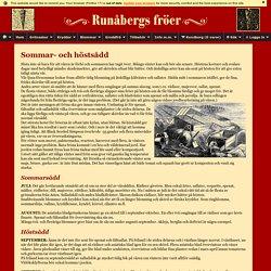 Runåbergs fröer - Sommar- och höstsådd
