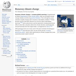 Runaway climate change