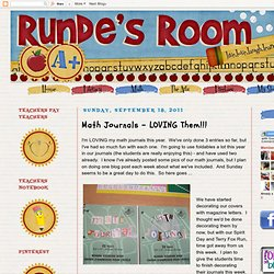 Math Journals - LOVING Them!!!