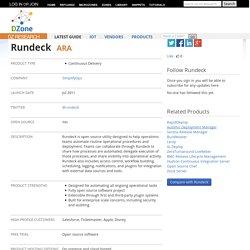 Rundeck - DZone