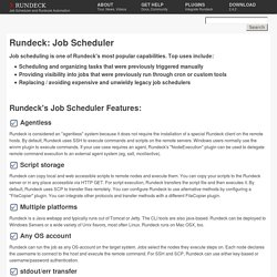 Rundeck.org - Job Scheduler