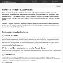 Rundeck.org - Runbook Automation