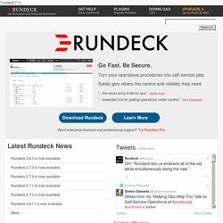 Rundeck.org - Open Source Automation