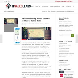 A Rundown of Top Payroll Software and How to market them