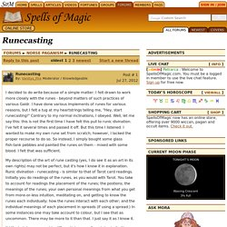 Runecasting - Magic Forums