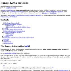 Runge–Kutta methods