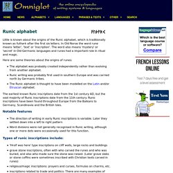 Runic alphabets / Runes / Futhark