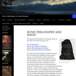 Runic Philosophy and Magic