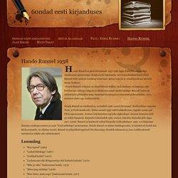 Hando Runnel - 60ndad eesti kirjanduses