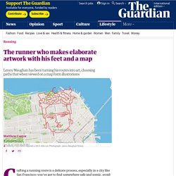 The runner who makes elaborate artwork with his feet and a map