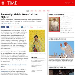 Runner-Up: Malala Yousafzai, the Fighter