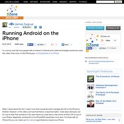 Running Android on the iPhone