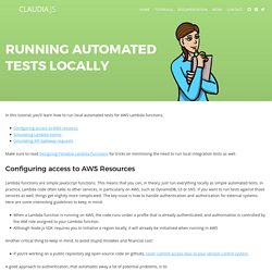 Running automated tests locally