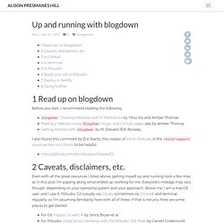 Up and running with blogdown
