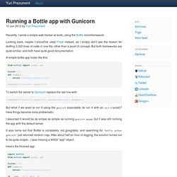 Running a Bottle app with Gunicorn