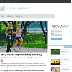 The 4 Keys to Proper Running Breathing