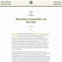Running Cassandra on DC/OS