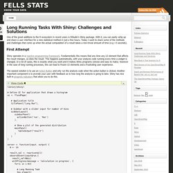 Long Running Tasks With Shiny: Challenges and Solutions