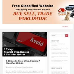 5 Mistakes To Avoid When Running A Classified Website