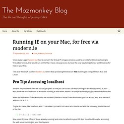 Running IE on your Mac, for free via modern.ie