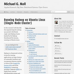 Running Hadoop On Ubuntu Linux (Single-Node Cluster)