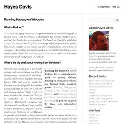 Running Hadoop on Windows « Hayes Davis