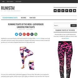 Running Tights Of The Week - Leatherback Universe Pink Tights -