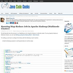 Running Map-Reduce Job in Apache Hadoop (Multinode Cluster)