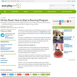 Hit the Road: How to Start a Running Program - Weight Center
