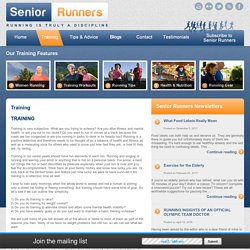 Running Tips, Running Program, Running Training, Senior Running