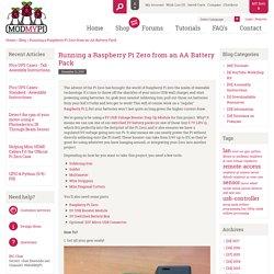 Running a Raspberry Pi Zero from an AA Battery Pack