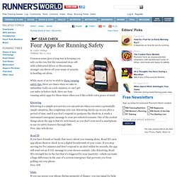 Four Apps for Running Safety