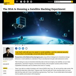 The NSA Is Running a Satellite Hacking Experiment
