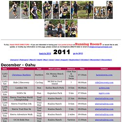 Running, Walking, Cycling, Swimming Event Calendar of Hawaii hosted by The Running Room