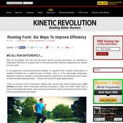 Running Technique: Top 6 Ways To Improve Running Efficiency