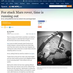 For stuck Mars rover, time is running out - LiveScience- msnbc.c