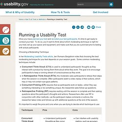 Running a Usability Test