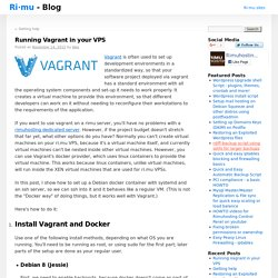 Running Vagrant in your VPS