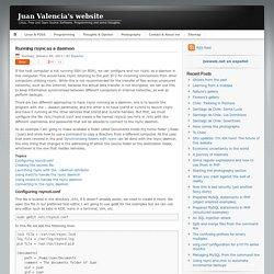 Running rsync as a daemon - Juan Valencia's website