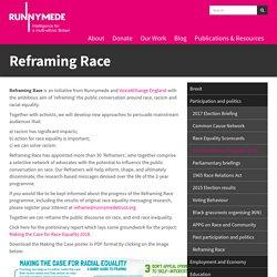 Runnymede Trust / Reframing Race
