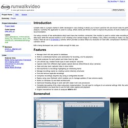 runwalkvideo - A Java gait analysis application