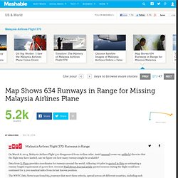 Map Shows 634 Runways in Range for Missing Malaysia Airlines Plane