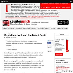 Rupert Murdoch and the Israeli Genie