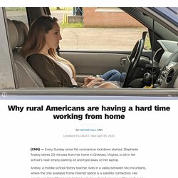 Why rural Americans are having a hard time working from home