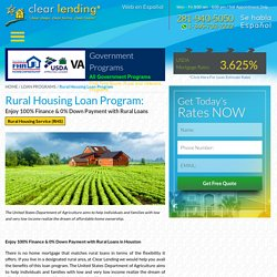 Rural loans in Houston