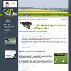 Cap Ruralité : ruralité en Région wallonne - La rurbanisation en Région wallonne